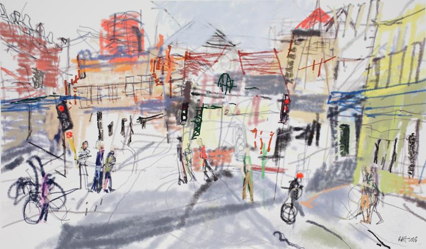 Layered Street Peripheral Vision